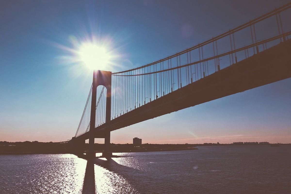 New York Bridge At Sunset
